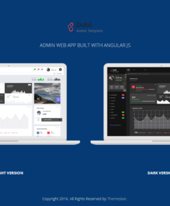 Dubli - Bootstrap Responsive Admin Web App with AngularJs