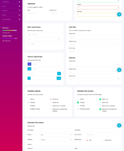 purple admin template