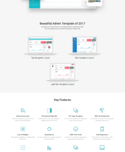 WOW - Admin Template Bootstrap 4 with material design