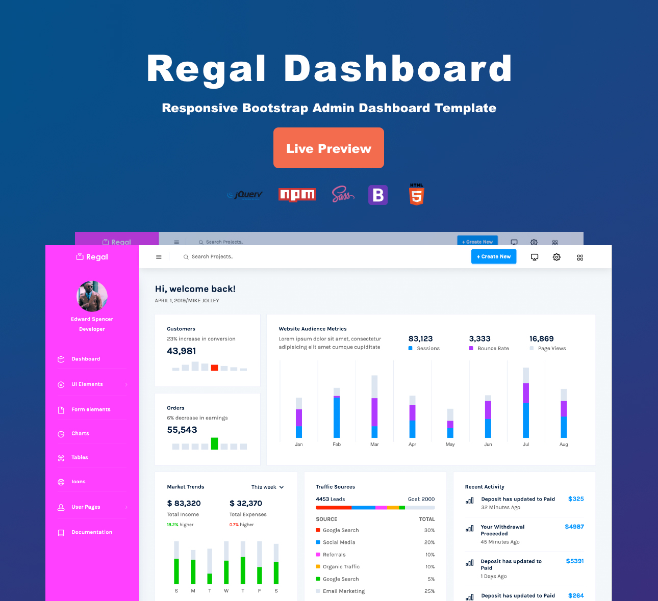 Regal Dashboard