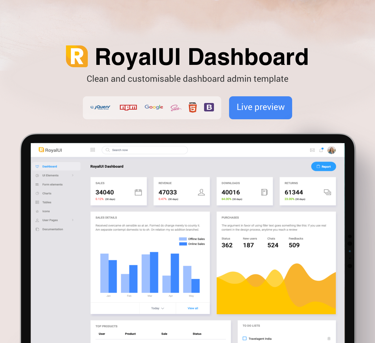 Royal Dashboard