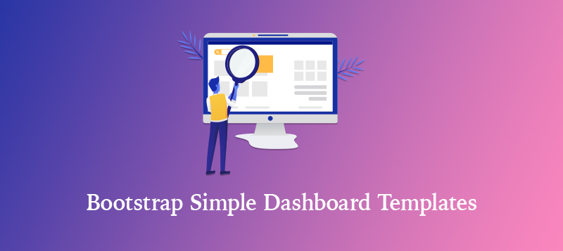 bootstrap simple dashboard templates